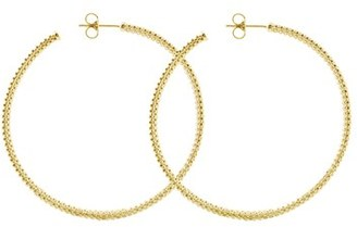 Women's Lagos 18K Large Hoop Earrings $1,700 thestylecure.com