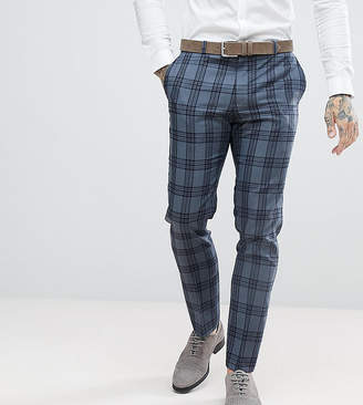 Heart & Dagger Slim Suit Trousers In Check