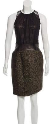 Sophie Theallet Sleeveless Knee-Length Dress Black Sleeveless Knee-Length Dress