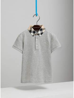 Burberry Check Collar Polo Shirt