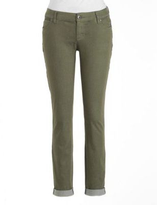 Vince Camuto TWO BY Cuffed Stretch-Cotton Skinny Jeans