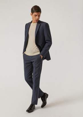 Emporio Armani Slim Fit Suit In Stretch Cotton