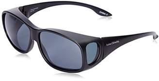 Solar Shield Fits Over Sunglasses Classic Buckeye Square (L) Blk/Gry