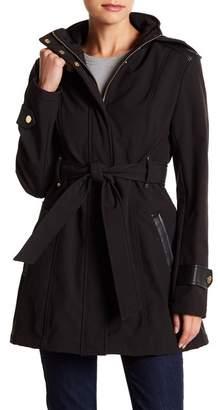 Via Spiga Tie Belt Wind Resistant Walker Jacket (Petite)
