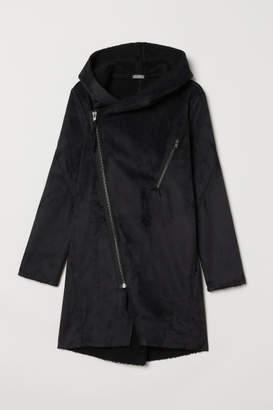 H&M Pile-lined Jacket - Black