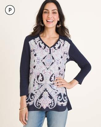 Chico's Chicos Petite High-Low Paisley Top