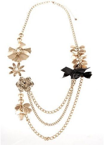 Draped Flower Necklace