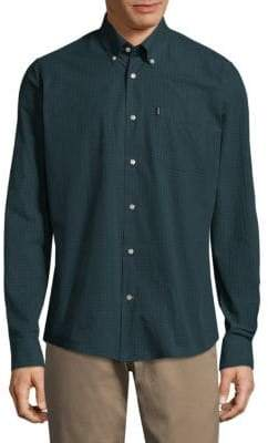 Barbour Gingham Woven Cotton Casual Button-Down Shirt