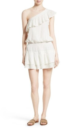 Women's Joie Kolda Ruffle One-Shoulder Dress $298 thestylecure.com