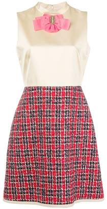 Gucci bow tweed skirt dress