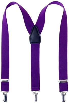 AWAYTR Kids Child Boy Men suspender - Strong Clips Y Shape Solid Color 1 Inch Wide Braces