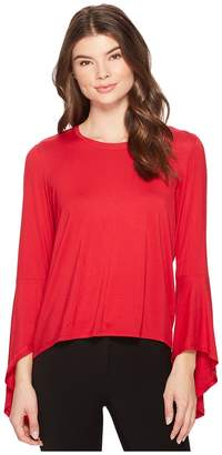 Catherine Malandrino Bell Sleeve High-Low Top Women's Long Sleeve Pullover