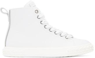 Giuseppe Zanotti White Blabber High-Top Sneakers