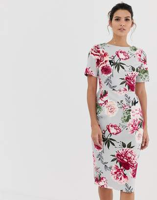 Asos Design DESIGN wiggle midi dress in floral print