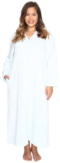 Carole HochmanCarole Hochman Plus Size Quilted Zip Robe