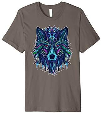 COOL WOLF T SHIRT for wolves lovers TRIBAL PATTERN