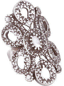NEW Lazurah Womens Rings Atlanta Adjustable Ring Size OneSize Silver