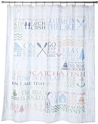 "Avanti Linens Lake Words72"" x 72"" Shower CurtainMulti-Colored"