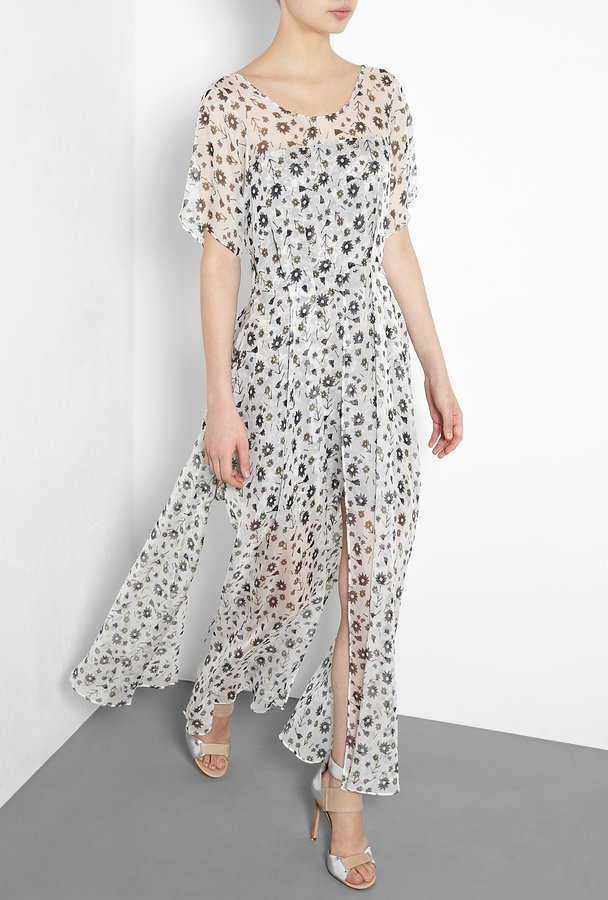 Theyskens' Theory Floral Split Hem Maxi Gown