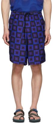 Dries Van Noten Blue Verner Panton Edition Geometric Piper Shorts