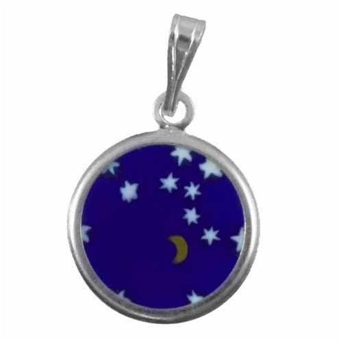 Murano Round moon and stars glass Pen...