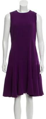 Prada Sleeveless A-Line Dress Violet Sleeveless A-Line Dress