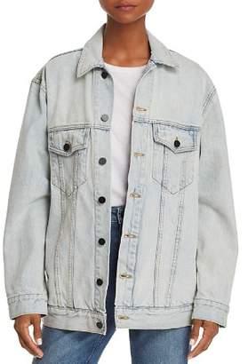 Alexander Wang Daze Bleached Denim Jacket