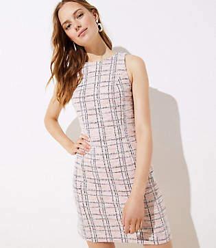 LOFT Striped Boucle Shift Dress