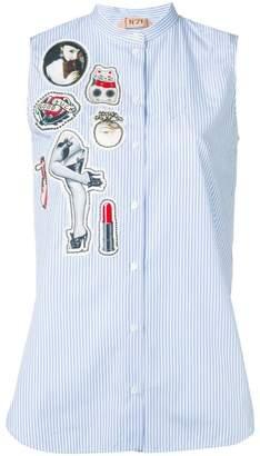 No.21 multi patch shirt