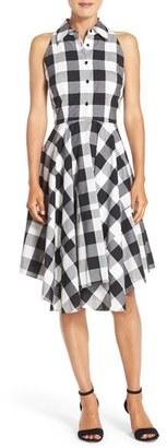 Women's Julia Jordan Woven Gingham Shirtdress $128 thestylecure.com