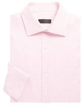 Ike Behar Textured Check Cotton Shirt