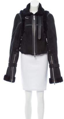 Sacai Short Shearling Coat