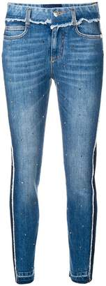 Ermanno Scervino cropped two-tone jeans