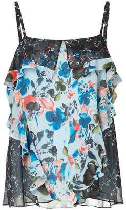 Tanya Taylor floral print frill trim camisole
