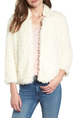 Bishop + Young BISHOP AND YOUNG Faux Fur Crop Jacket