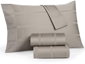 Sunham CLOSEOUT! Dobby Stripe Queen 4-Piece Sheet Sets, 400 Thread Count, 100% Cotton, Created for Macy's