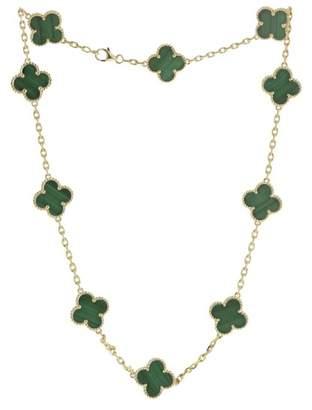 Van Cleef & Arpels Vintage 18K Yellow Gold Malachite Necklace