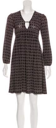 Dolce & Gabbana Printed Mini Dress Black Printed Mini Dress