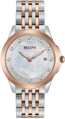 Bulova Womens Two Tone Bracelet Watch-98p162 $281.25 thestylecure.com