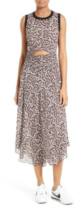 Women's A.l.c. Sandra Cutout Silk Midi Dress $645 thestylecure.com