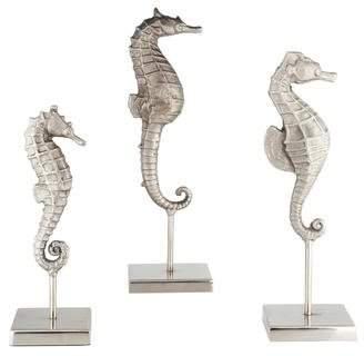 Set of 3 Seahorse Figurines