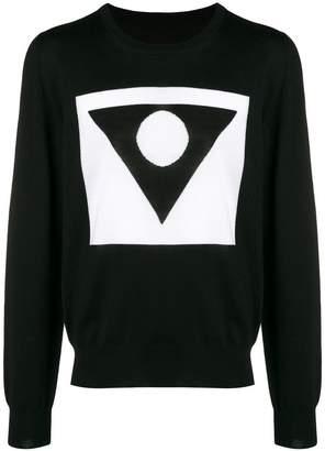 Maison Margiela geometric print knitted jumper