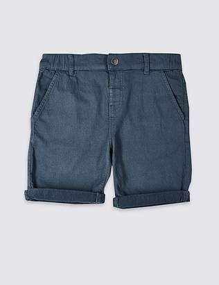 Marks and Spencer Easy Dressing Denim Shorts (3-16 Years)