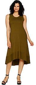 Halston H by Petite Sleeveless Printed Hi-LowHem Maxi Dress