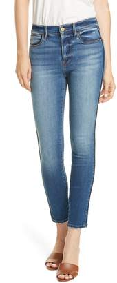 Frame Le High Tux Piping Skinny Jeans