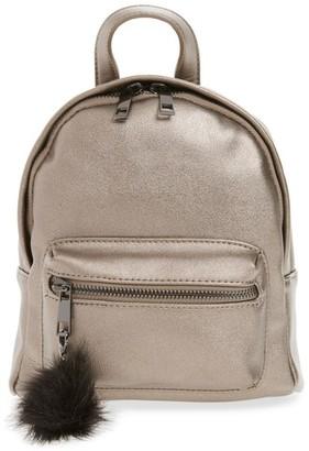 BP Faux Leather Mini Backpack - Metallic