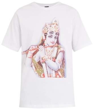 PAM Krishna text-print cotton T-shirt