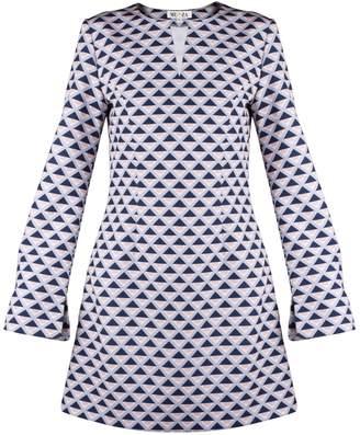 MUZA - A-Line Mini Dress With Geometric Motifs