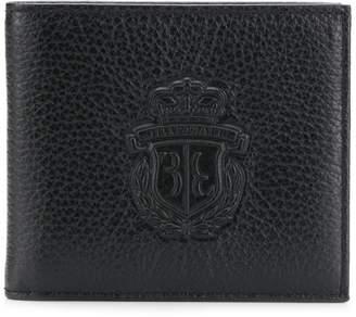 Billionaire logo embossed bifold wallet