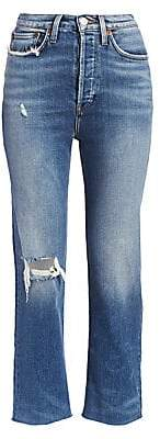 RE/DONE Women's Comfort Stretch Ultra High-Rise Stovepipe Jeans